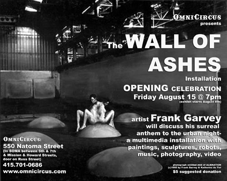 Flyer for Wall of Ashes