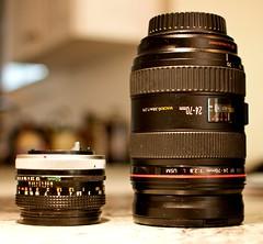 camera glass canon lens 50mm f18 fd 2470mm f28l