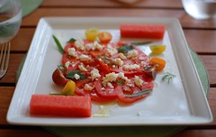 Heirloom Tomato and Organic Watermelon Salad
