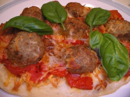 Open Face Meatball Stromboli