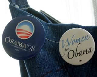 Political Buttons: Obama '08 and Women for Obama