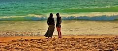 Surfacing (mountainair8848) Tags: ocean sea beach water girl look mar spain sand agua waves playa arena galicia mirar chicas olas océano