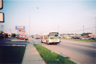 Westbound Pace 79th Street bus. Bridgeview Illinois. May 2006.