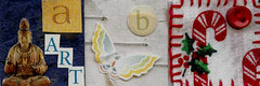Inchies Unavailable - ABC Set #1 (Pictures by Ann) Tags: christmas blue b red white green art butterfly paper wings handmade c craft sew hobby button abc birch candycane embroidered sewn birchbark embroideryfloss traded madebyhand cottonfloss swapbot minneapolisinstituteofart handembroidered womanmade inchies madebyawoman