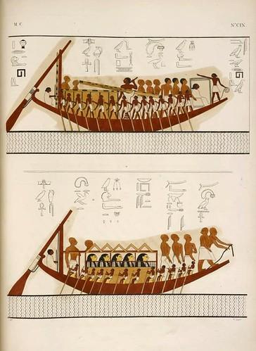23- Navegacion- Barcas de formas y ornamentos variados