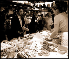 Fish Market Business Man
