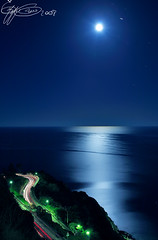 RUN TO THE MOON (GIUSEPPE GRECO PHOTO) Tags: longexposure blue light sea summer moon seascape beach night canon landscape star mare moonlight 5d 2008 ischia 1740l maronti anawesomeshot giuseppegreco