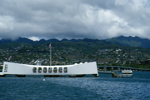 Arizona Memorial and the Admiral Clarey Causeway Bridge