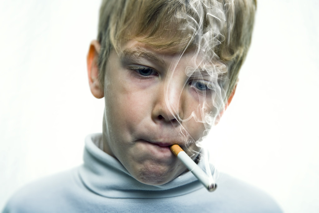boy smoking