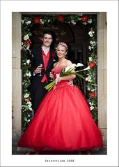 Gareth & Stacey (Spiritflier) Tags: wedding canon groom bride dress sigma denbighshire 1850f28 bodelwyddan eos40d faenolfawrhotel