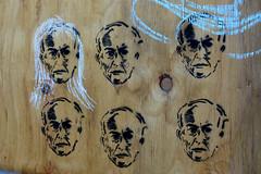 6 Pack Graffiti (dedicated to Luna Park) (cobalt123) Tags: wood arizona streetart stencils graffiti chalk stencil paint graphic photowalk plywood tempe ballpoint annotated ballpointpen scottkelbysworldwidephotowalk funaddons
