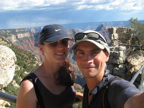 Tania and Craig at the Grand Canyon, north rim