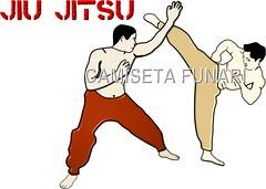desenho luta jiu jitsu