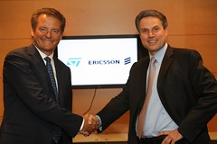 STMicroelectronics CEO Carlo Bozotti and Ericsson CEO Carl-Henric Svanberg