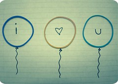 i heart u. (Kristine May.) Tags: paper words heart explore u iloveyou rubberbands drawingish ishouldbedoingmyhomework