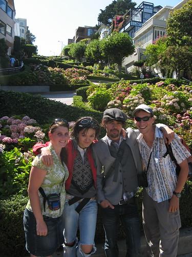 team Fuji at Lombard Street