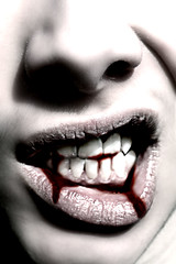 Vampirish (JaredPallesen) Tags: selfportrait me self mouth nose blood vampire teeth fangs vampires jaredpallesen