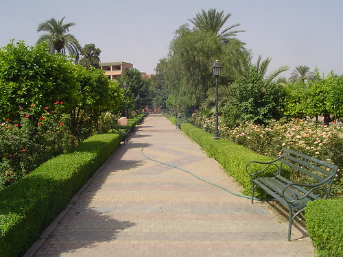 The garden city in Morocco