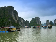 Floating Village in Halong Bay, Vietnam (Butch Osborne) Tags: travel traveling mustsee vitnam hni hanoivietnam vnhhlong overseasadventuretravel cnghaxhichnghavitnam bucketlist