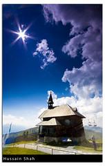 Austria: At The Peak (Hussain Shah.) Tags: blue church d50 austria nikon sigma peak graduate 1020mm zellamsee shah hussain cokin gnd schmittenhöhe