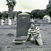 Scott at Rebecca Ashton Gravesite Galveston Texas