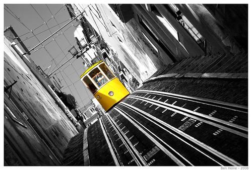 Funicular in Lisbon, Portugal