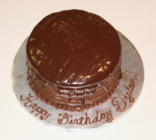 Chocolate Ganache Birthday Cake
