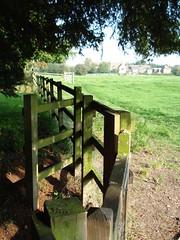 A Stile With Style, Pirton, Hertfordshire, England (bestfor / richard) Tags: uk autumn trees colour nature sunshine rural au
