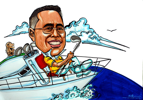 Caricature for Sentosa yachting