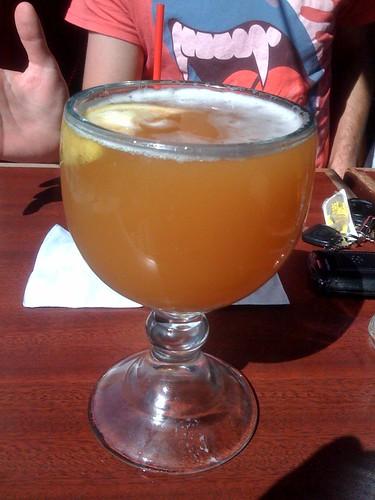 Delicious beer chalice is delicious