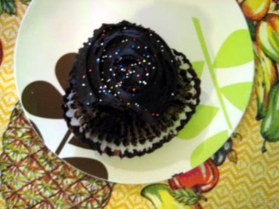 Chocolate Cupcake from Auntie Em's Kitchen, in Eagle Rock