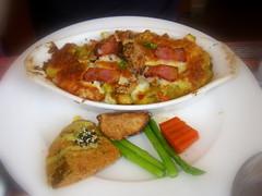 培根燻肉鮮蝦起司焗烤洋芋