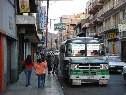 Rush hour in Cochabamba, Bolivia...