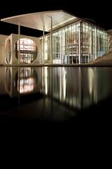 Reichstagufer (TheManWhoWasn'tThere) Tags: longexposure berlin water architecture modern night canon eos sigma 1020mm reichstagufer 40d