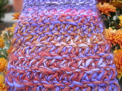 Autumn sunset scarf 1