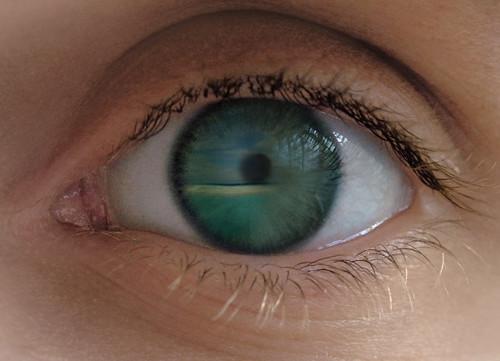 Lagon dans l'oeil