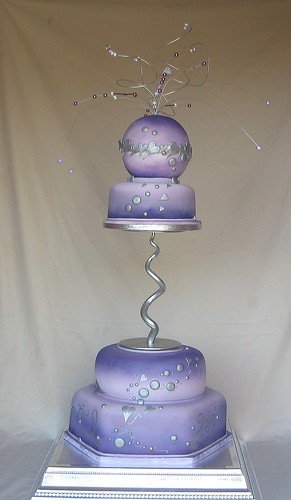 Purple Lilac Beaded Wedding Cake A Photo On Flickriver
