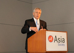 Sen. Chuck Hagel at the Asia Society