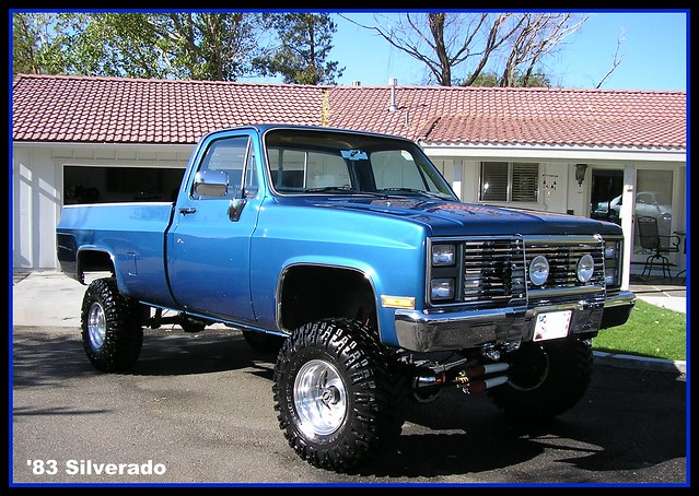 blue classic chevrolet truck gm 4x4 chevy silverado gmc