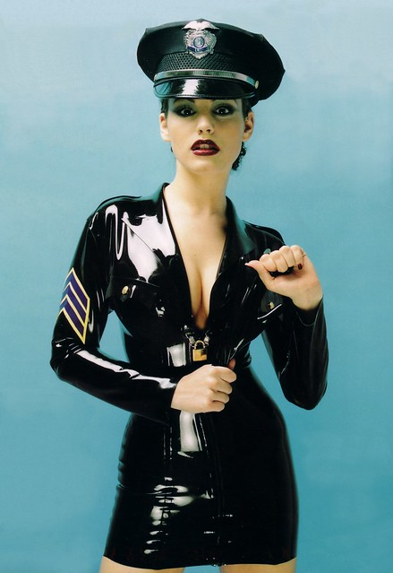 Kelly Brook Latex Officer by Manic.Ramic 2.0