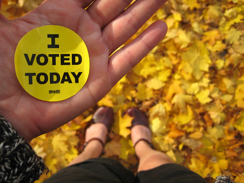 I voted today (wearing shorts!!!)