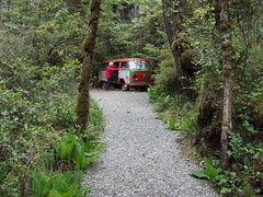 Hippie Bus at Tofino Botanical Gardens