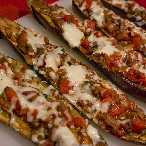 Baked Eggplant with Tomato & Mozzarella (2)