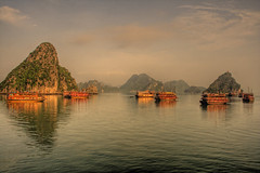 Halong bay 2 (trickyd3) Tags: dawn islands asia earlymorning vietnam serenity halongbay stillwaters northvietnam rubyphotographer reflectionslovers