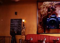 I've got the best friends... (rosy outlook photography) Tags: lamp girl menu restaurant photo artwork tables waitress blackboard banquette selfie wonderfultonight frizztext omot talentedfriends rosyoutlook inspiremetobebetter metsomanyonflickr