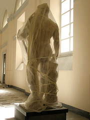 Under Wraps (Eye Love) Tags: italy sculpture roman covered naples marble museoarcheologiconazionale