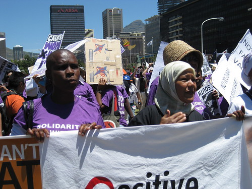 Marching in the One in Nine Campaign March