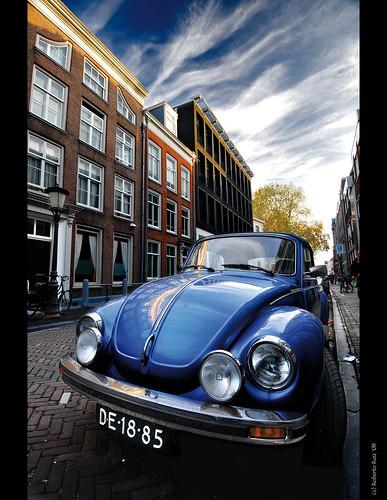 Beetle, escarabajo, cucaracha, poncho, cepillo, maggliolino... at Utrecht streets!! by B'Rob.
