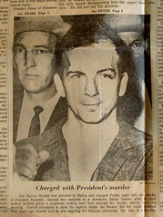 Lee Harvey Oswald, shot of vintage copy of The Augusta Chronicle, November 23rd, 1963, Augusta, Georgia, photo © 2008 by QuoinMonkey. All rights reserved.