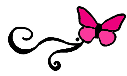Pink butterfly wrist tattoo design image More at Wrist Tattoo